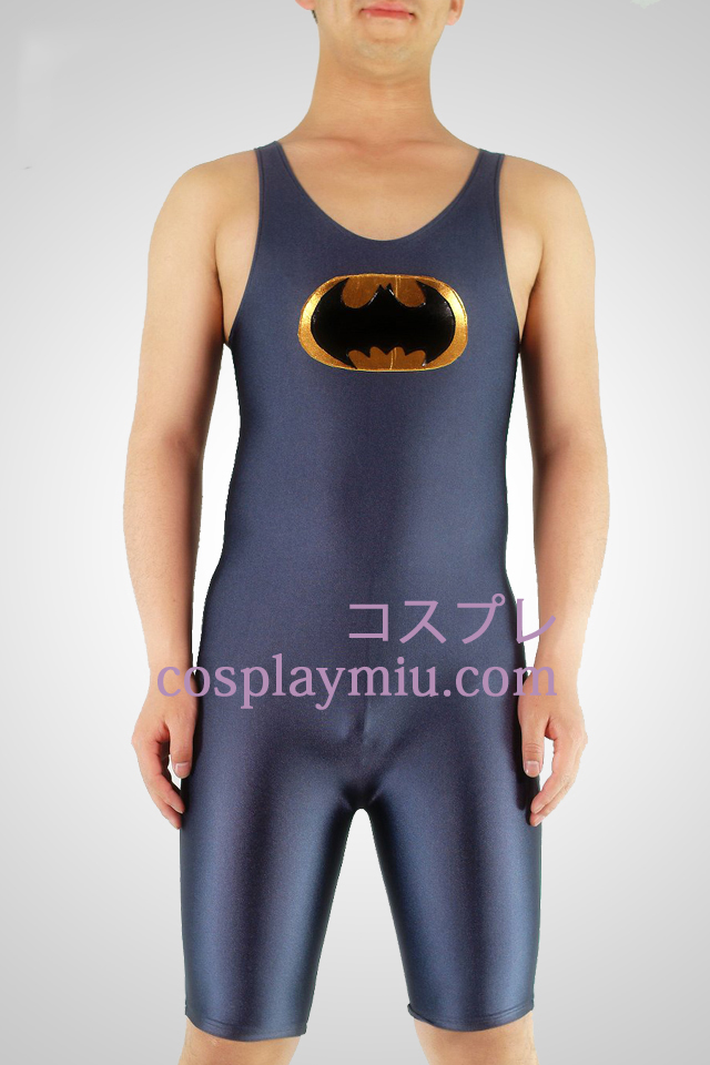 Grey Lycra Halfbody Batman Gymnasium Superhero Zentai