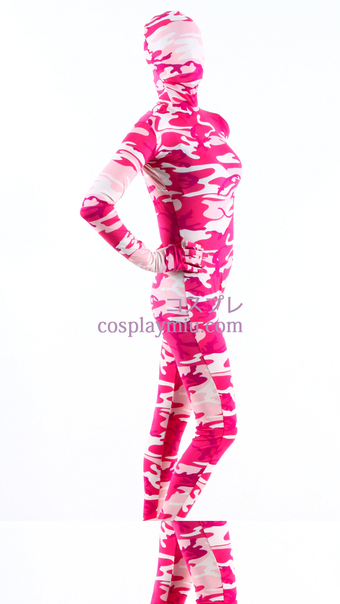 Pink Camouflage Lycra Zentai Suit