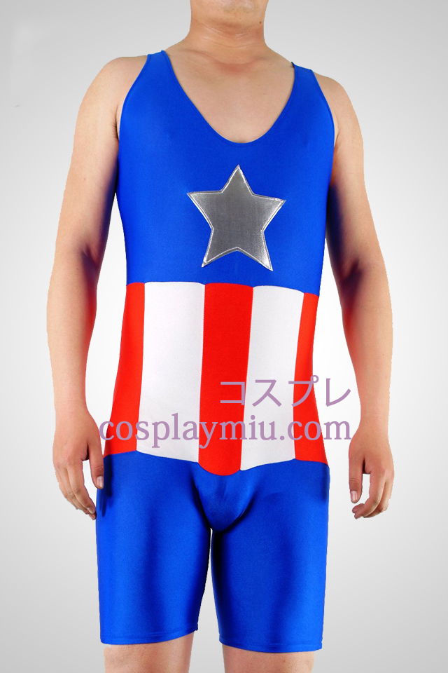 Star And Stripes Lycra Gymnasium Catsuit