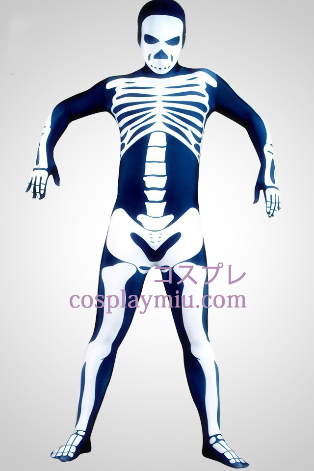 Skeleton Man Lycra Superhero Zentai Suit